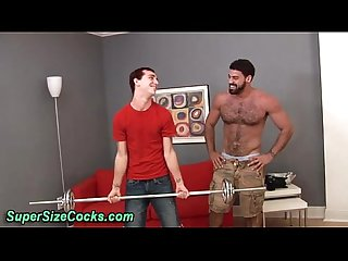 Twink sucks hard big cock