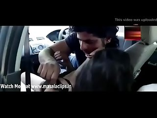 Indian morden couple sex in car