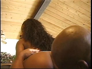 Big tits ebony hottie banged by a big black cock