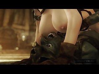 3D Hentai new Sfm girls Fucking 8