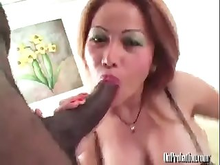Huge fake Tits mature Thai fucks BBC (Anyone have her name/other links?)