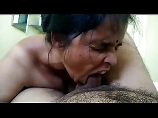 Desi south indian wife giving very hot blowjob to husband