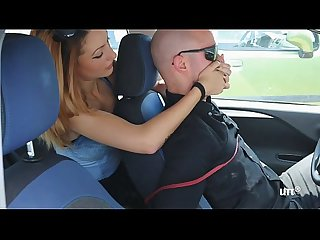 Brat car italian girl foot smothering man