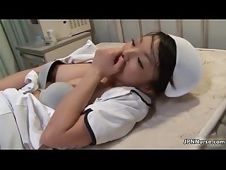 Sexy Japanese Teen Nurse sucking