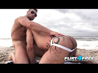 Killian crew flirt4free ripped hunks bareback hard on The Beach
