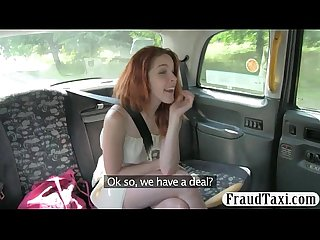 Pretty amateur redhead passenger twat drilled for free