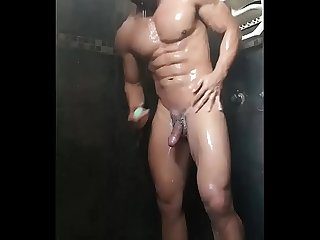 Desi indian gay guy showering