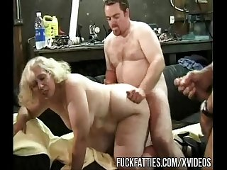 Mechanics gangbangs blonde bbw