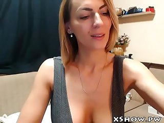 Gorgeous horny mother masturbating on web cam