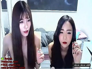 Korean bj lesbians masturbates together live at livekojas com