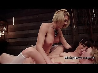 Blonde tranny anal bangs guy and babe