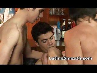 Hot Latino three some 2