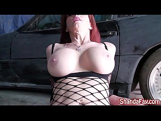 Kinky milf shanda fay gets fucked in mechanic shop