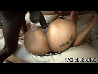 Chocolate hole of girl is fucked