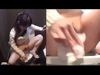 Japanese caught masturbating in the public Toilet 3