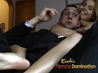 Steaming hot and kinky lesbian action with two delicious sex bombs