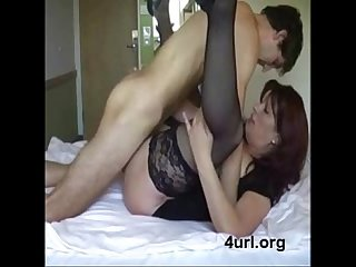 Hot mom fucking with son