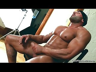 Beafed muscle stud jerking off 3 by gotmasked