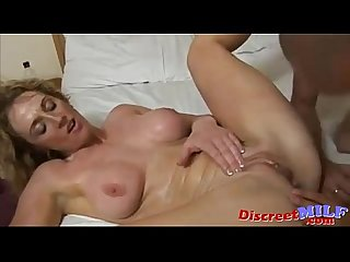 Curly hair blonde Milf get fucked