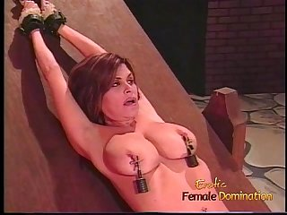 Voluptuous honey gets tied up and has her Ass whipped