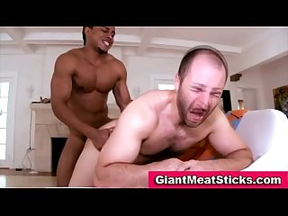 Gay interracial big black cock fucking