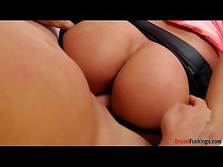 Bootylicious stepsis roughfucked from behind