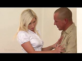Blonde mommy makes love to her husband
