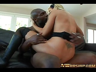 hot skinny blonde fucking big black dick interracial sex