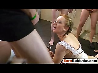 Pissing and fucking with two euro whores