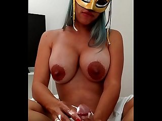 Xania lombar handjob with oil and my bigtits loaded with breast milk for my master and husband xatha
