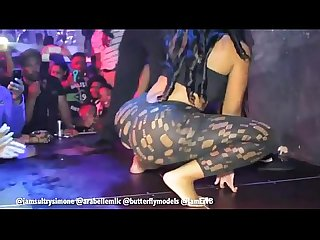 Sultry simone gives fan a lap dance twerking on stage in germany