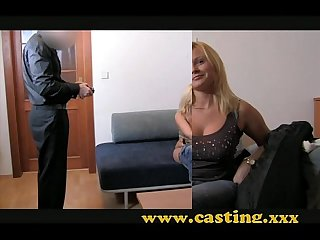 Casting - Chubby blonde takes it in the ass