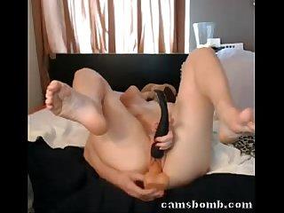 Blonde camgirl multi squirting masturbation