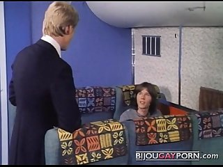 Airplane sex from vintage gay porn spread eagles