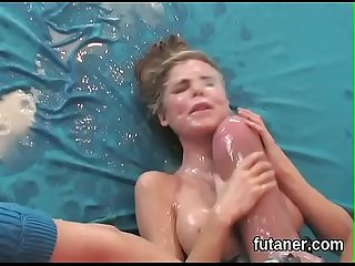horny chicks ream the biggest strapon dildos and spray tuduhan all around the place
