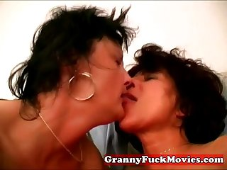 Hairy lesbian granny sex