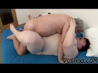 Old fat amateur couple fucks
