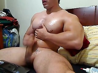 muscle boy cum