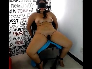 Hubby Tied Wife Blindfold and Exposed,