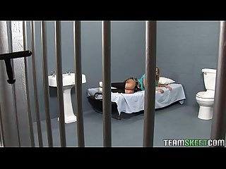 Naughty teen Ally Kay fucked hard in the prison
