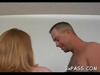 Chubby bitch gets her clean shaved bawdy cleft nailed on camera