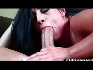 Big Assed Latina Gets Face Fucked