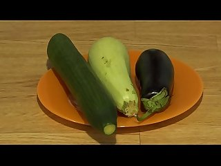 Organic anal masturbation with wide vegetables comma extreme inserts in a juicy ass and a gaping hol