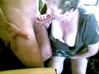 Granny and hubby having fun on cam period amateur older