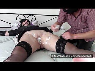 Shaving time bondage shaving pussy licking and painful orgasm
