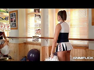 Gym Brat Cheerleader Sensual Jane fucks herself at the GYM