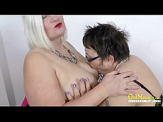 OldNannY Lacey and Honey Lesbian Toys Masturbation