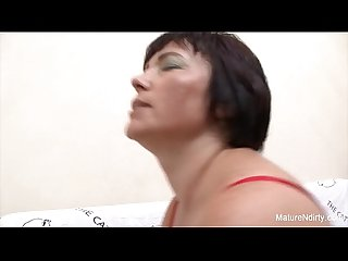 Fat granny fucks a younger guy