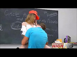 High School teen avril fucks A surfer boy at School innocenthighhd period com