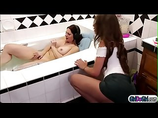 Carmen caliente lick stepmom mindi minks hairy pussy in tub